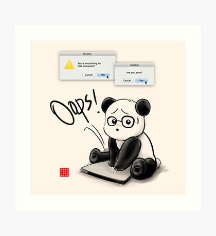 IT Panda Art Print