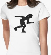 Inline skating girl Womens Fitted T-Shirt