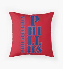 Philadelphia Phillies typography Throw Pillow