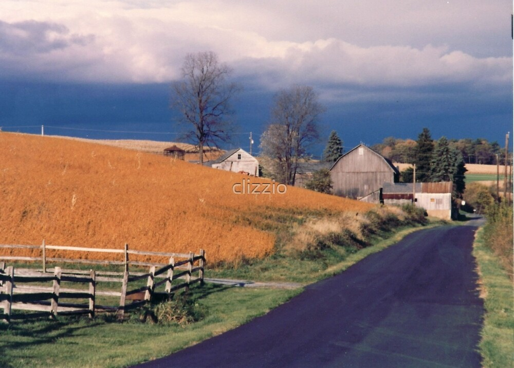 Pending Storm on the Farm by clizzio