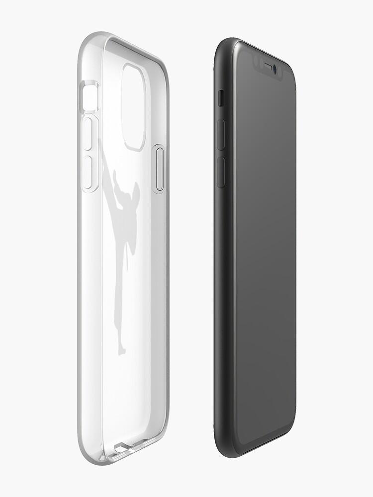 Vista alternativa de Funda y vinilo para iPhone Kárate