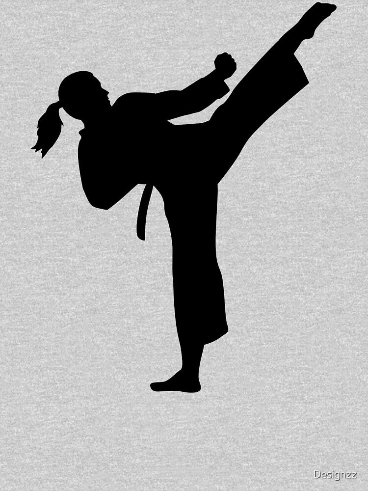 Karate girl woman by Designzz