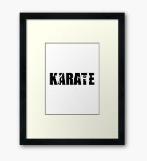 Karate Framed Print