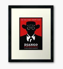 Django Unchained film poster Framed Print