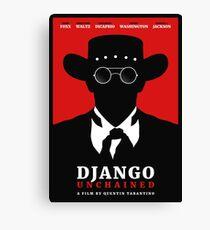 Django Unchained film poster Canvas Print