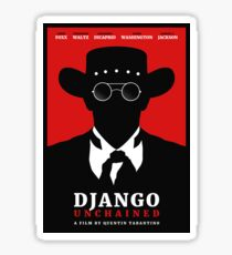 Django Unchained film poster Sticker