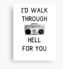 Walk Through Hell Metal Print