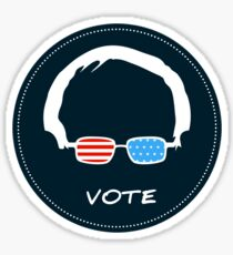 Vote Bernie Sanders - DarkBlue Version Sticker