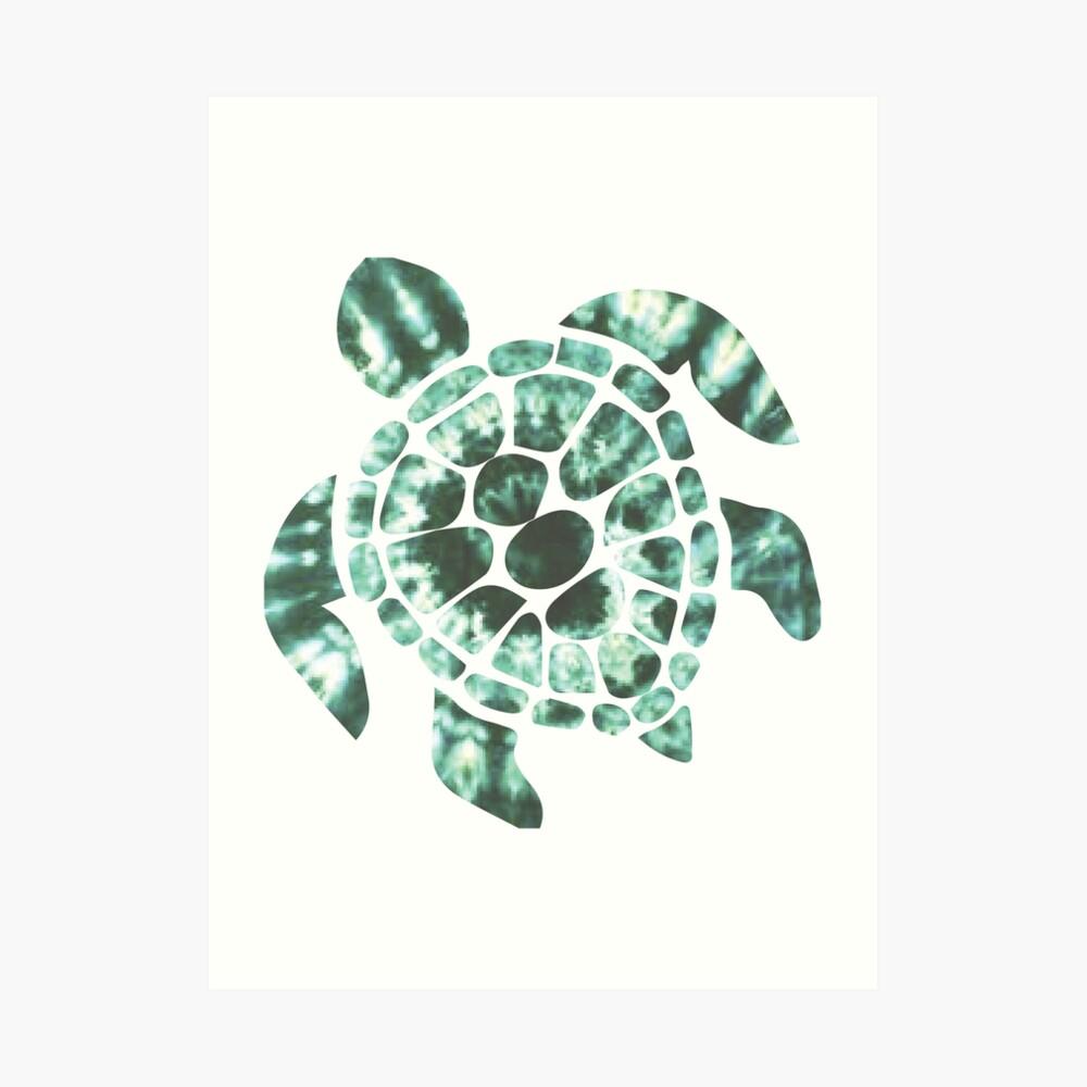 Tie Dye Sea Turtle 2 Lámina artística