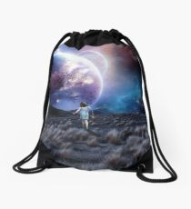 Lost in a space that isn't there Drawstring Bag