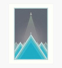 Space Man Blue  Art Print