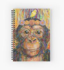 Intuition (The chimpanzee and the canary) painting - 2016 Spiral Notebook
