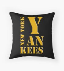New York Yankees typography Throw Pillow