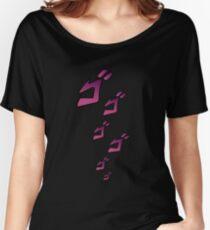 Jojo MENACING ゴ ゴ ゴ (L'aventure bizarre de Jojo) T-shirts coupe relax