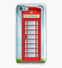 Vintage Telephone Box iPhone Case/Skin