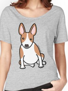 English Bull Terrier Puppy Dog ... brown & white Women's Relaxed Fit T-Shirt