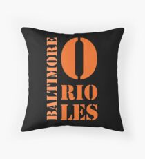 Baltimore Orioles Typography Throw Pillow