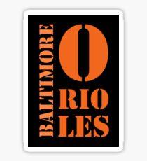 Baltimore Orioles Typography Sticker