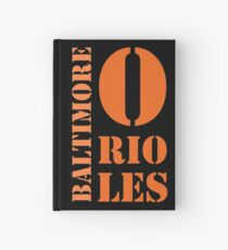 Baltimore Orioles Typography Hardcover Journal