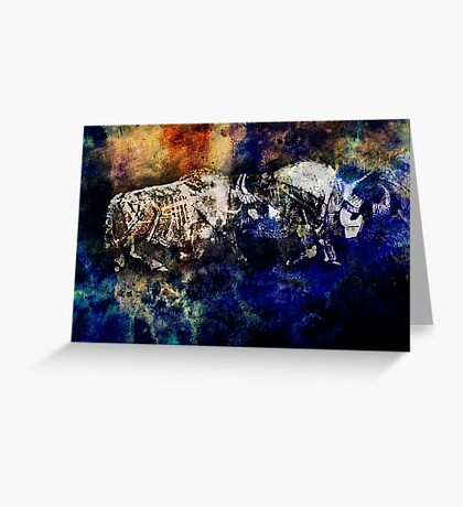 OXEN ASIA Greeting Card