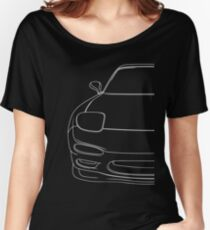 rx7 fd outline - white Women's Relaxed Fit T-Shirt