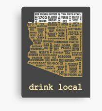 Drink Local - Arizona Beer Shirt Canvas Print
