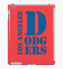 Los Angeles Dodgers Typography logo iPad Case/Skin
