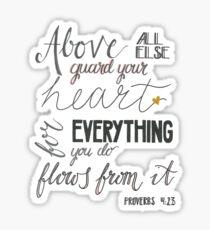 Proverbs 4:23 Sticker