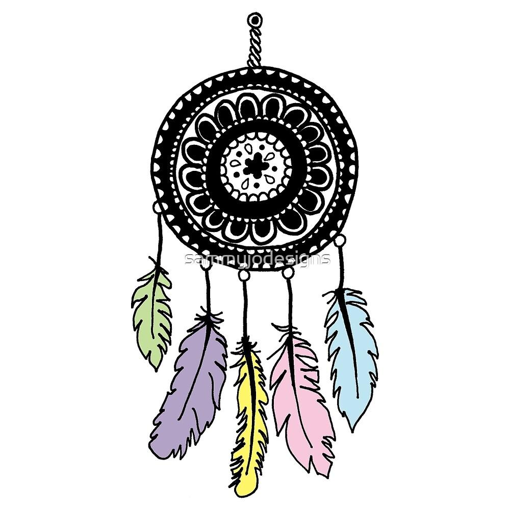Color art dreamcatcher - Mandala Dream Catcher Color By Sammyjodesigns