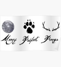 Moony, Padfoot and Prongs Poster
