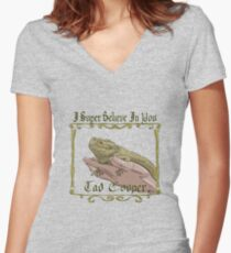 I Super Believe In You Tad Cooper Women's Fitted V-Neck T-Shirt