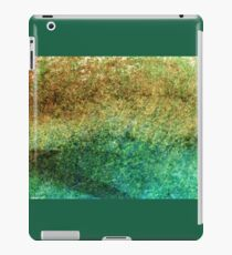 Forest At The Edge Of The Pond in Oil Pastel iPad Case/Skin