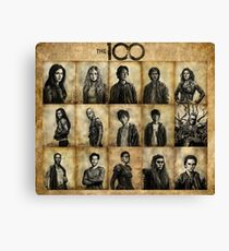The 100 poster 2 Canvas Print