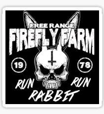 Firefly Farms run rabbit run Sticker