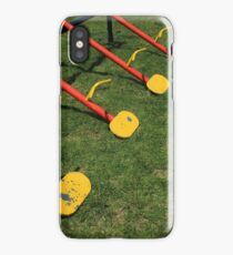 Steel Teeter Totter Seats iPhone Case/Skin