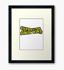 ARIN WINS SILVER WINS SONIC WINS Framed Print