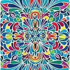 Caribbean inspired  watercolor mandala pattern by zsalto