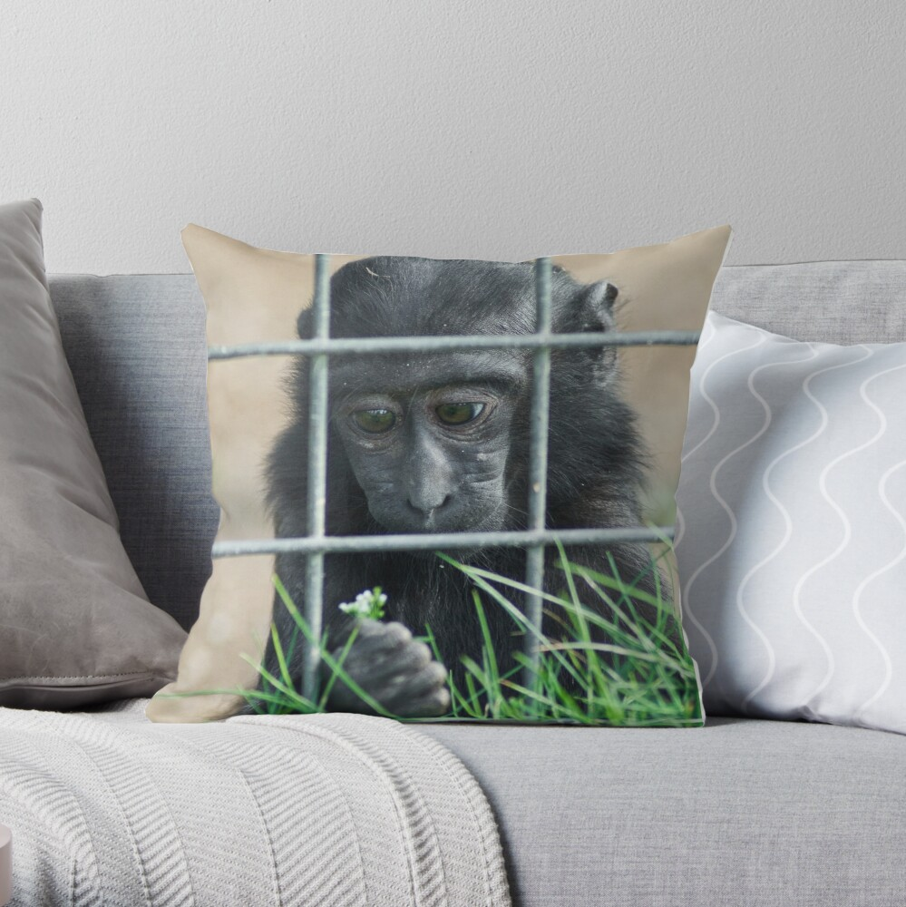 Caged thoughts... Throw Pillow