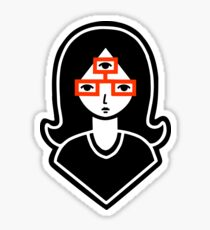 Third Eye Glasses Sticker
