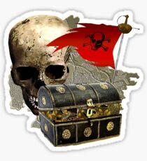 Treasure On Skull Island Sticker