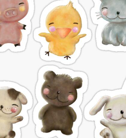 Wee Animals Sticker Set 1 Sticker