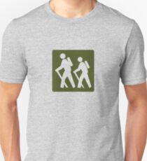 Outdoor Recreational Backbacking Road Sign Unisex T-Shirt