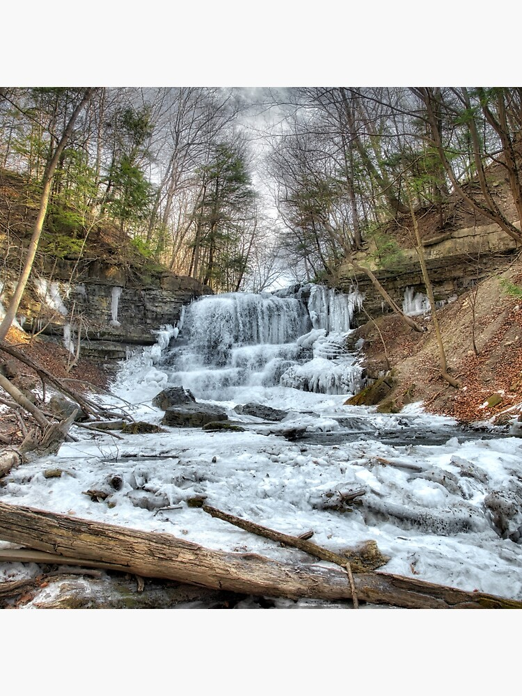 Thawing waterfall by daveriganelli