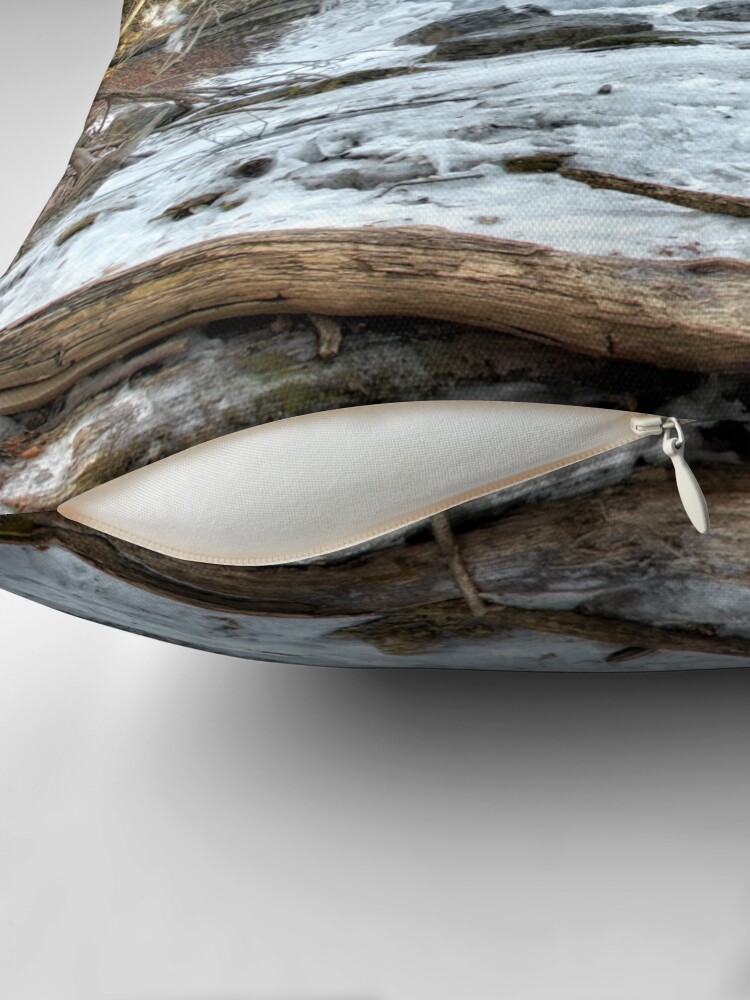 Alternate view of Thawing waterfall Throw Pillow