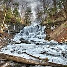 Thawing waterfall by Dave Riganelli