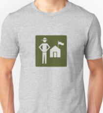 Outdoor Recreational Park Ranger Road Sign Unisex T-Shirt