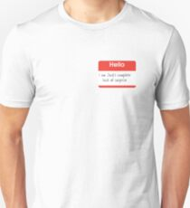 Hello, I'm Jack's Complete Lack of Surprise Name Tag T-Shirt