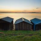 Dixons Beach Boatsheds #3 by Chris Cobern