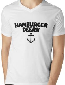 Hamburger Deern Anker (Schwarz) Mens V-Neck T-Shirt