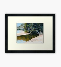 Tidal Creek, Dunk Island Framed Print